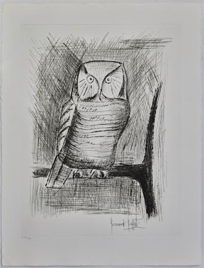 Bernard BUFFET (1928-1999) The Owl, Original signed etching