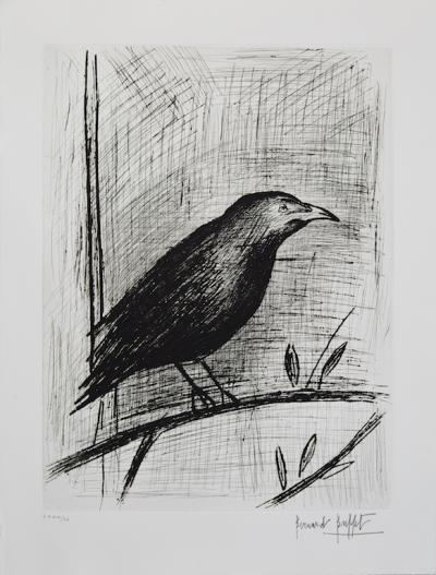 Bernard BUFFET (1928-1999) The Raven, original signed etching