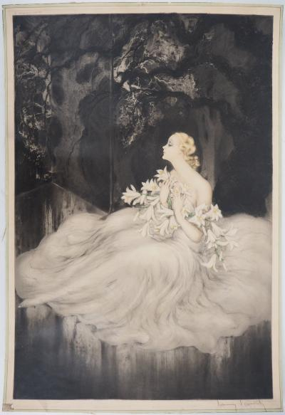 Louis ICART - Music Hall, signed engraving