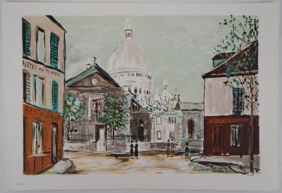 Maurice Utrillo - The original Saint Jacques Tower - Gouache
