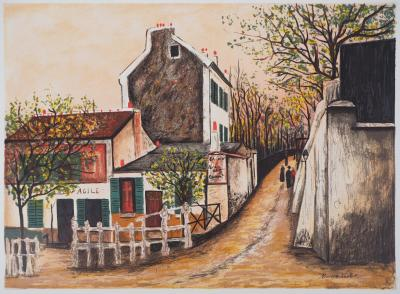 Maurice UTRILLO - The Agile Rabbit, Montmartre, signed lithograph
