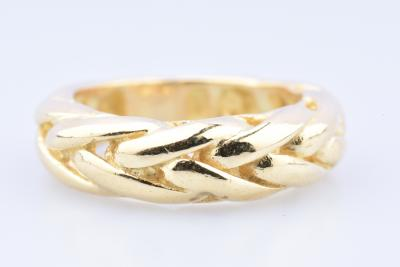 14ct yellow gold ring (585 thousandths) with palm tree motif.
