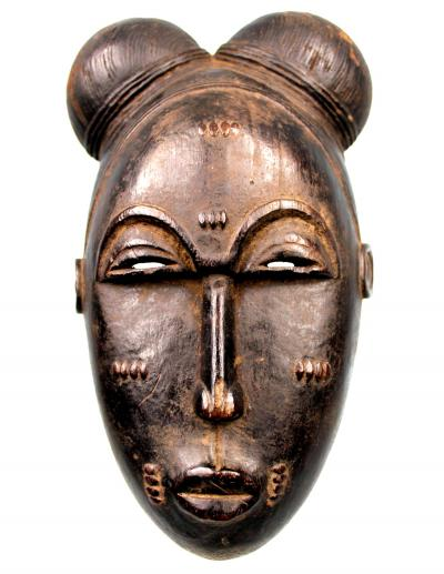 African Art - Old Baoulé Mask - Ivory Coast