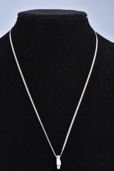 pas cher  mode de vente chaude Beau collier et pendentif en or blanc 18 carats (750 ...