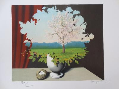 Rene Magritte, lithograph authenticated, COA MAGRITTE FOUNDATION original