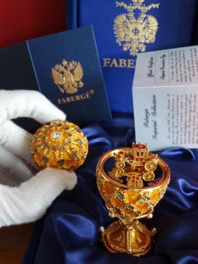 Faberge egg Imperial Coronation - Fabergé - Certificate of Authenticty - Numbered - authentic - 24 k gold finish