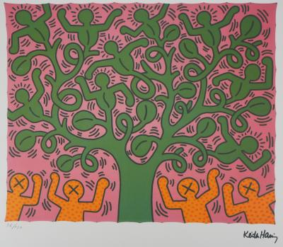 Keith HARING : Tree of Life - Sérigraphie Signée