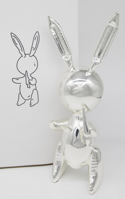 Jeff Koons - Silver Rabbit - Alliage de zinc