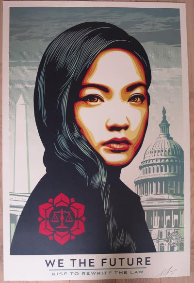 Shepard Fairey (Obey) We The Future  Rise to Rewrite the law