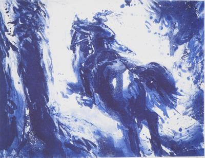 Etienne LODEHO - Ride, original signed etching