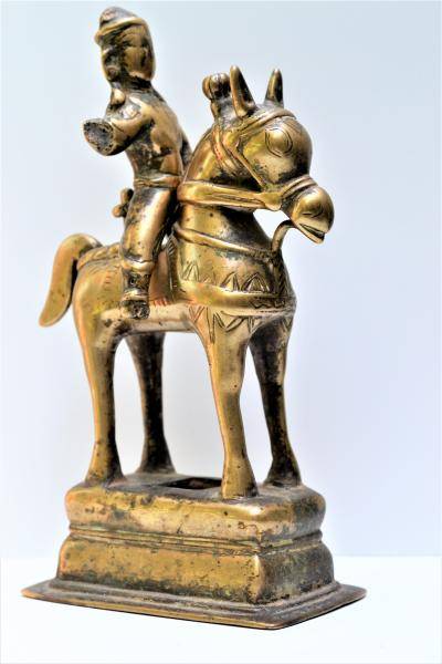 Rider on his mount (Khandoba) in bronze, Maharastra, 18th/19th century