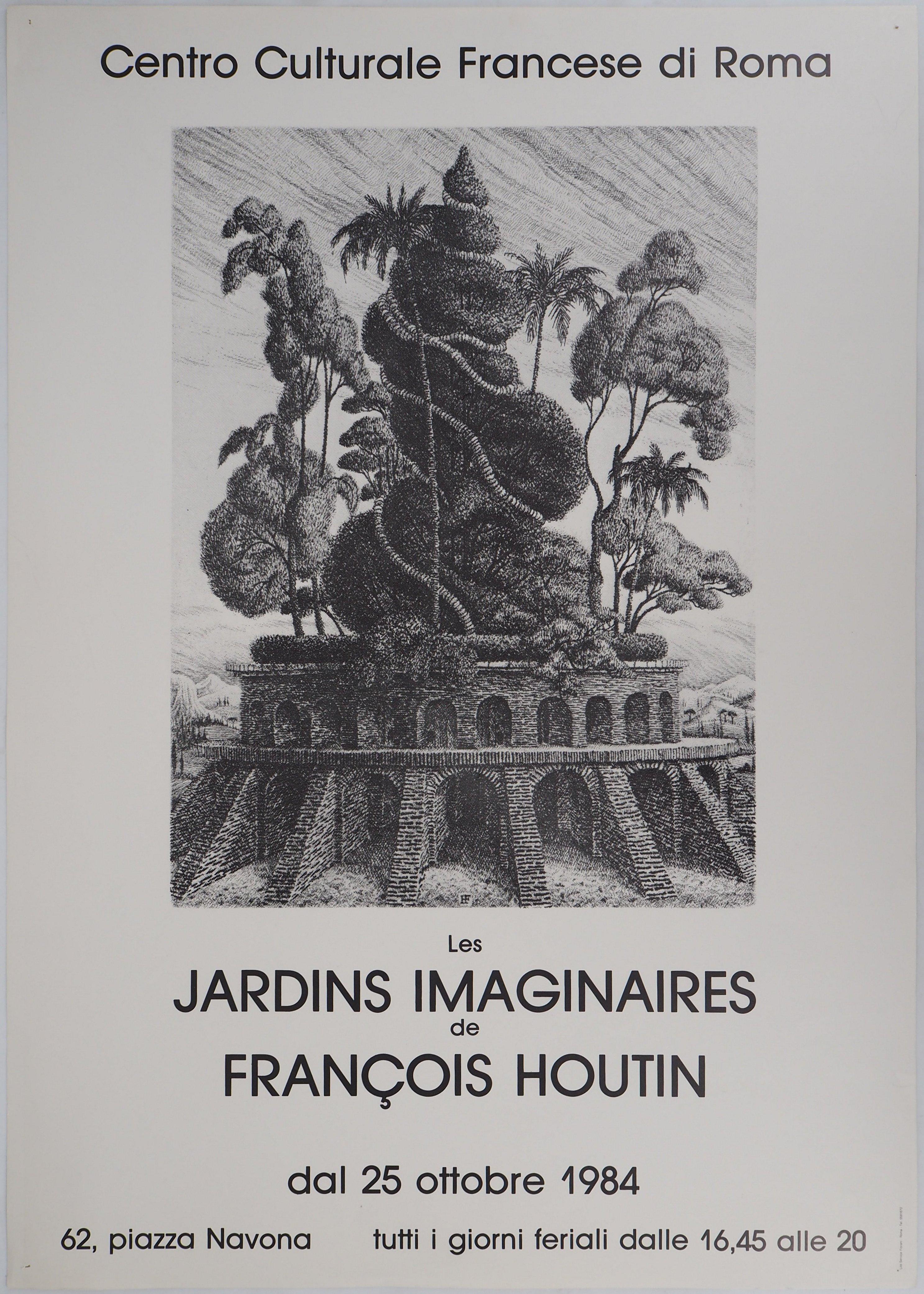 Comme Votre Maison Roma françois houtin - the imaginary gardens, 1984 - original