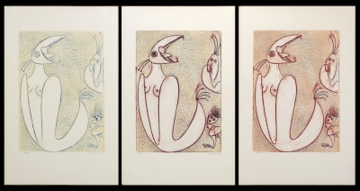 Max Ernst - Exceptionnal triptych handsigned and numbered - 1975