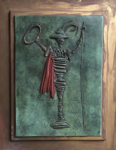 Salvador DALI - Don Quichotte - Bas relief signed & numbered