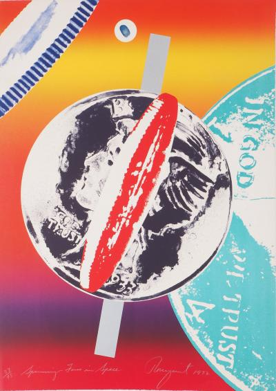 James ROSENQUIST : Spinning Faces in Space - Sérigraphie originale signée