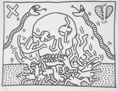 Keith HARING - Final Blow, signed silkscreen