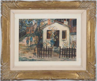 Maurice Utrillo - The Maquis in Montmartre, original signed gouache