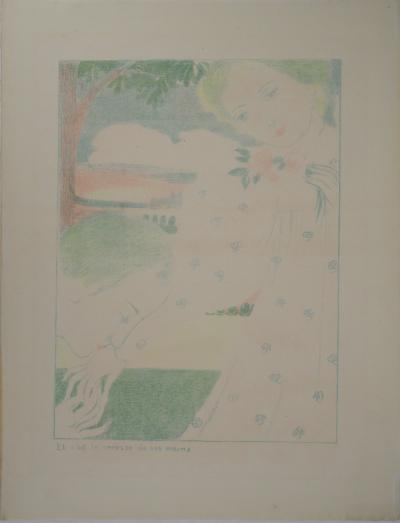 Maurice Denis : Amour,The caress of his hands - Original lithograph