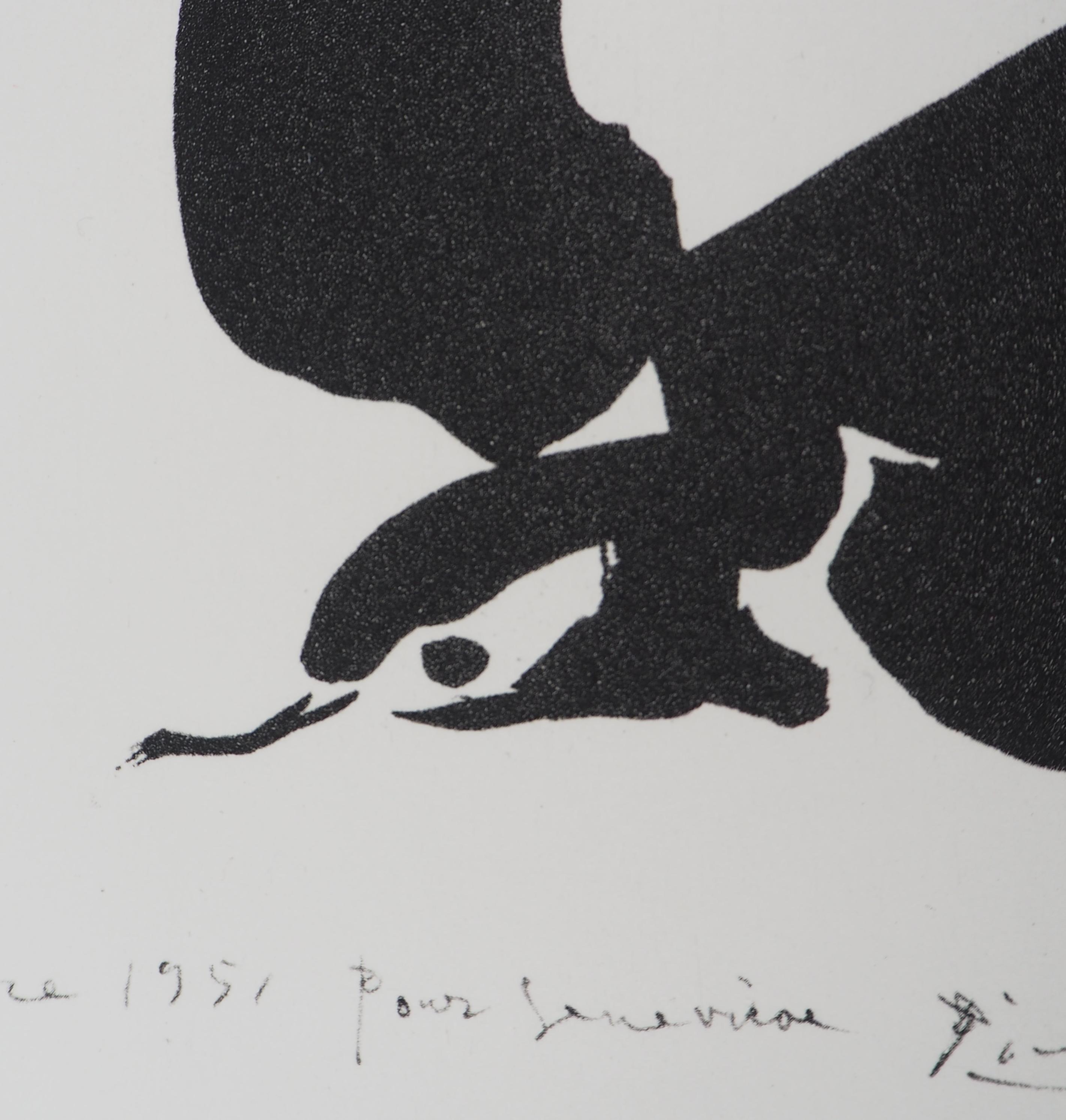 Petit Buffet Art Deco pablo picasso (after) - swallow - lithograph - post war