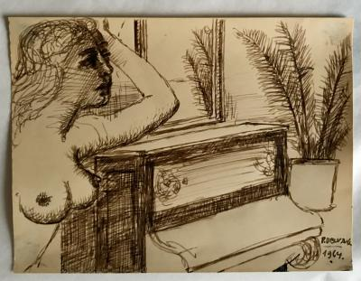 Paul DELVAUX - The Empress, original signed lithograph