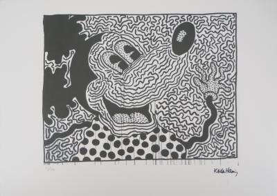 Keith HARING - Happy Mickey, signed silkscreen