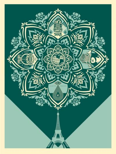 Shepard Fairey (Obey) -  Delicate Balance 2, 2015, Signed and numbered silkscreen
