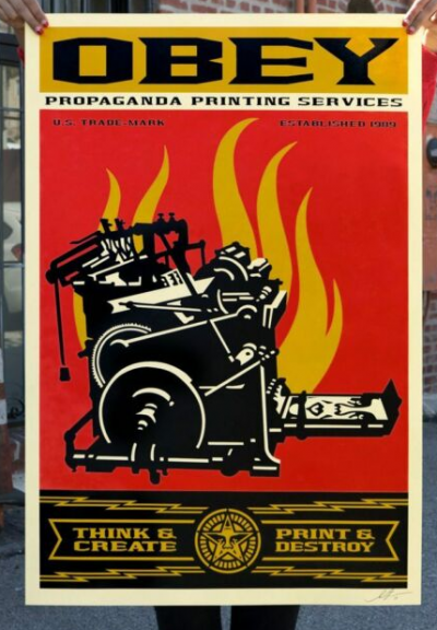 Shepard Fairey Obey Propaganda Printing Services Signed