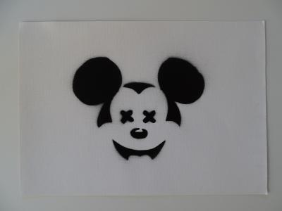 BANKSY (after) - Spray Paint Stencil on Canvas - Original Dismaland