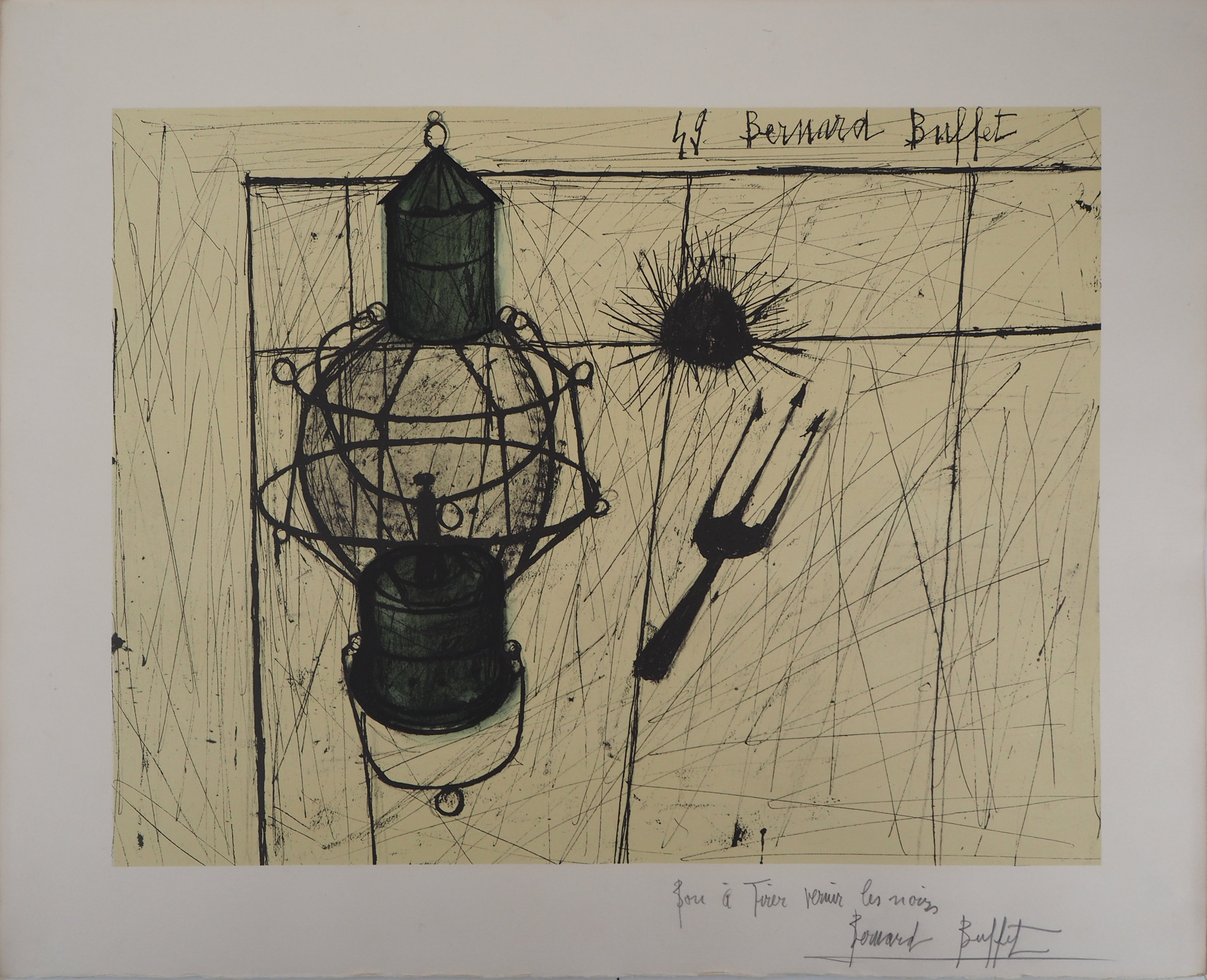 Awesome Bernard Buffet The Storm Lamp 1960 Lithograph Signed In Home Interior And Landscaping Palasignezvosmurscom