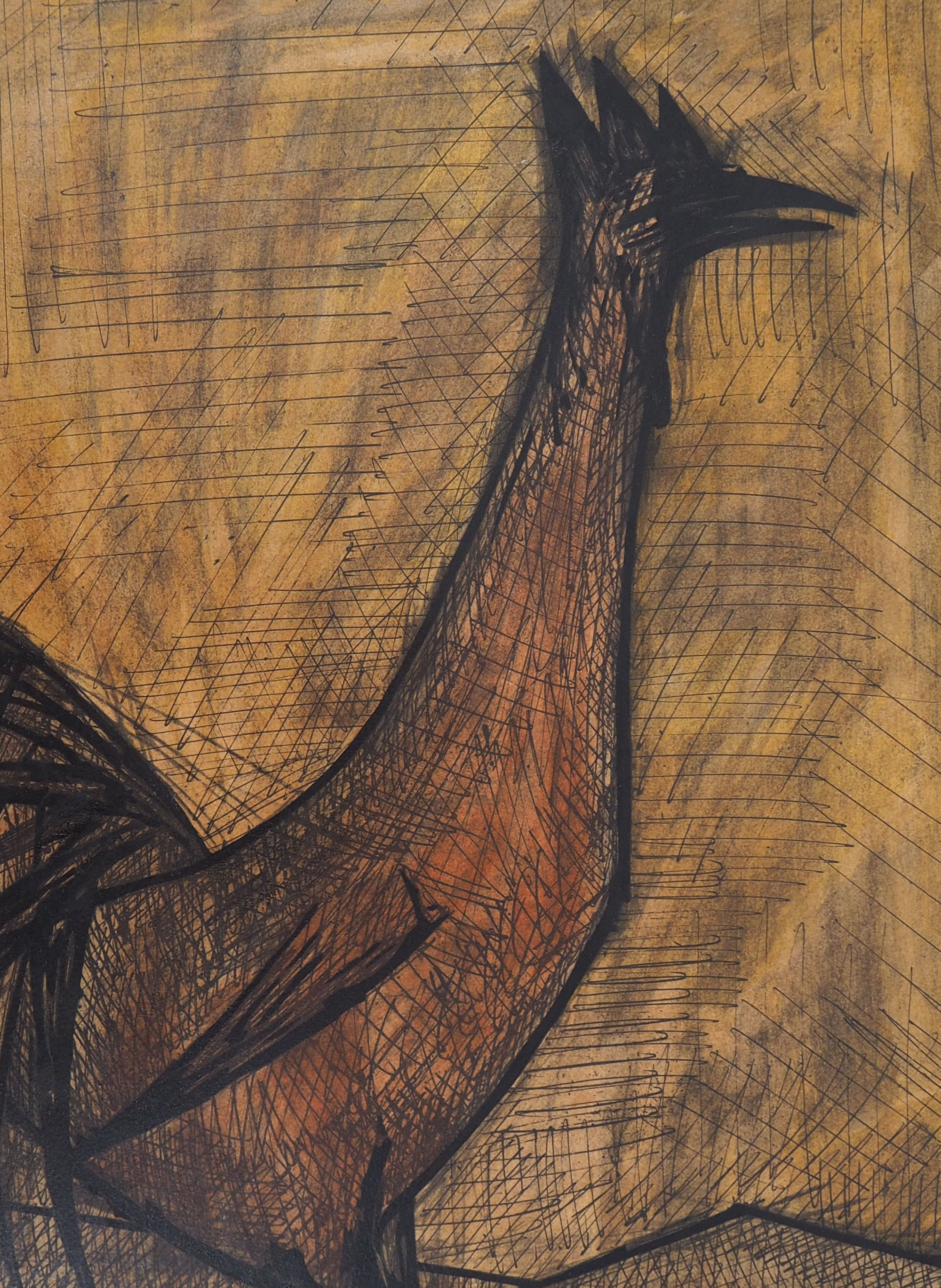 Fabulous Bernard Buffet The Rooster 1960 Lithograph Signed In Home Interior And Landscaping Palasignezvosmurscom