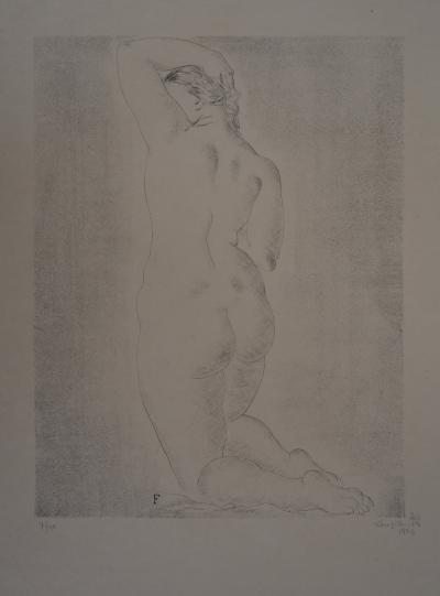 Leonard Tsuguharu FOUJITA - Nude blond from behind, 1925, Original signed lithograph