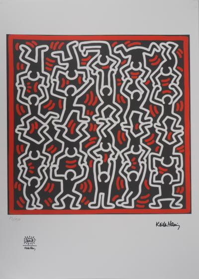 Keith HARING - The Acrobats, signed and numbered screenprint