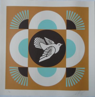Shepard Fairey (OBEY) - Geometric Dove, 2018, Signed and numbered silkscreen