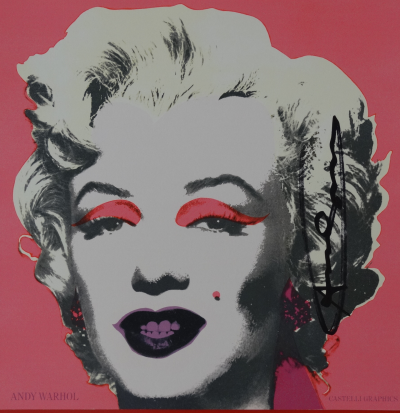 Andy Warhol - Marilyn (Announcement), 1981, Lithographie offset signée