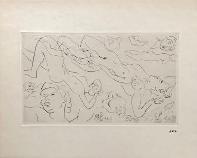 Henri MATISSE - Study of nude, 1929, Original signed etching