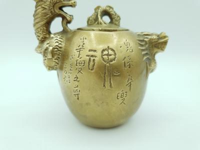 Chine Théière En Bronze à Décor De Dragon Fin Du Xixe