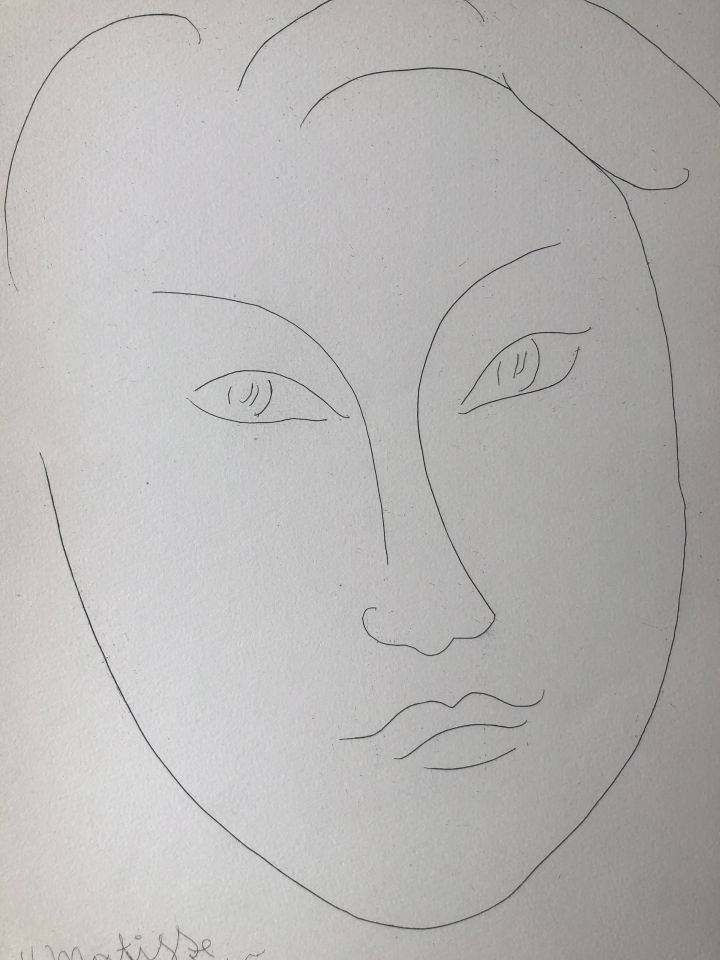 Henri MATISSE - Masque de jeune garçon, 1945 - Eau forte originale - Art  Moderne - Plazzart