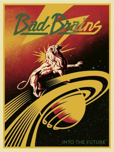 Shepard Fairey (Obey) -  Bad Brains Fully Band, 2012  - Handsigned silkscreen