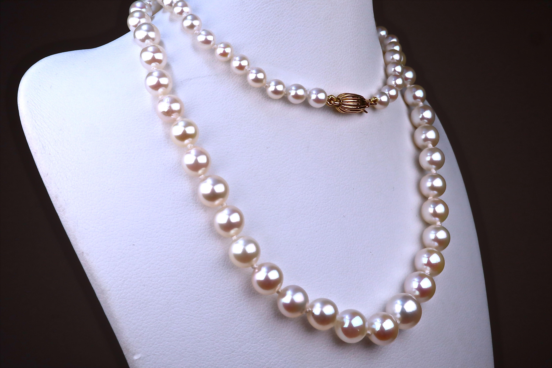 collier de perles akoya du japon
