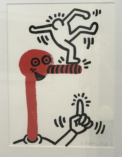 Keith HARING - Story of Red and Blue, 1989 - Lithographie signée