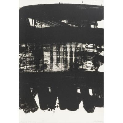 Pierre SOULAGES - Lithograph n°21 - Lithograph signed in pencil