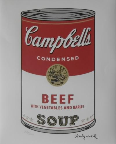 Andy WARHOL (d'après) - Campbell Soup Beef , Lithographie