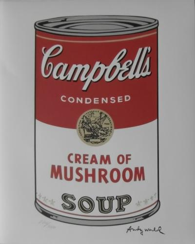 Andy WARHOL (d'après) - Campbell Soup Cream of mushroom , Lithographie