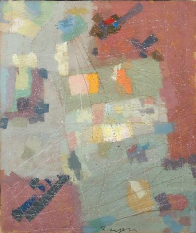 Camille BRYEN - Number 804, 1974 - Signed oil on canvas
