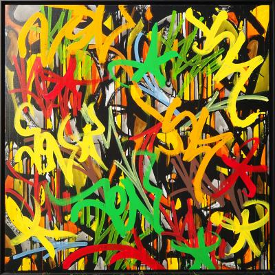 JonOne - Story of my life, 2016 -  Acrylic and Posca on canvas signed