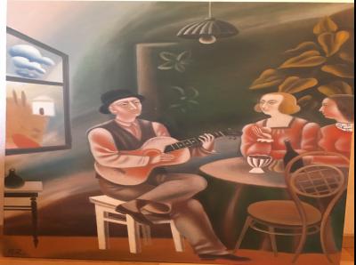 Petr Zverkhovskiy Peinture Naive Ii Huile Sur Toile Decouvertes Plazzart