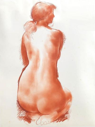 Antoniucci VOLTI - Nude model : Original handsigned drawing