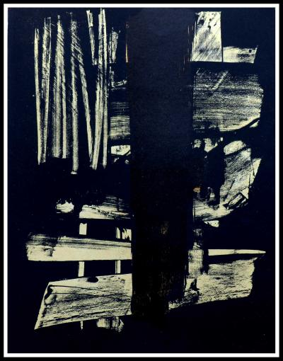 Pierre SOULAGES - Lithographie N°9 - 1959 - Lithographie originale