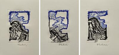 Pierre ALECHINSKY - Composition, 2011 - Hand signed etchings