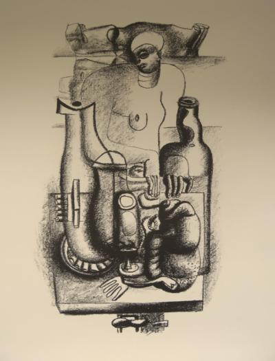 Le CORBUSIER - Woman and still life - Lithograph